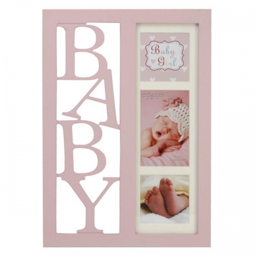 Collage Bilderrahmen Baby Girl XL - Rosa