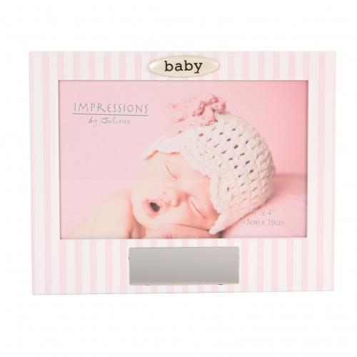 Rosa für Mädchen verspiegelt mit Fotorahmen Baby Girl Erinnerungsbox aus Glas
