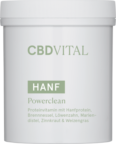 Powerfood, Proteinvitamin mit Hanfproteiin, CBD Protein Powerclean 300 g