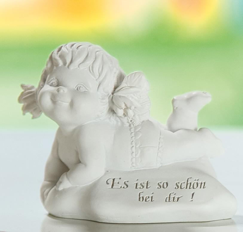 Der Süße Engel Der Weisheit Lucy Auf Stein Liegend Es Ist So Schön
