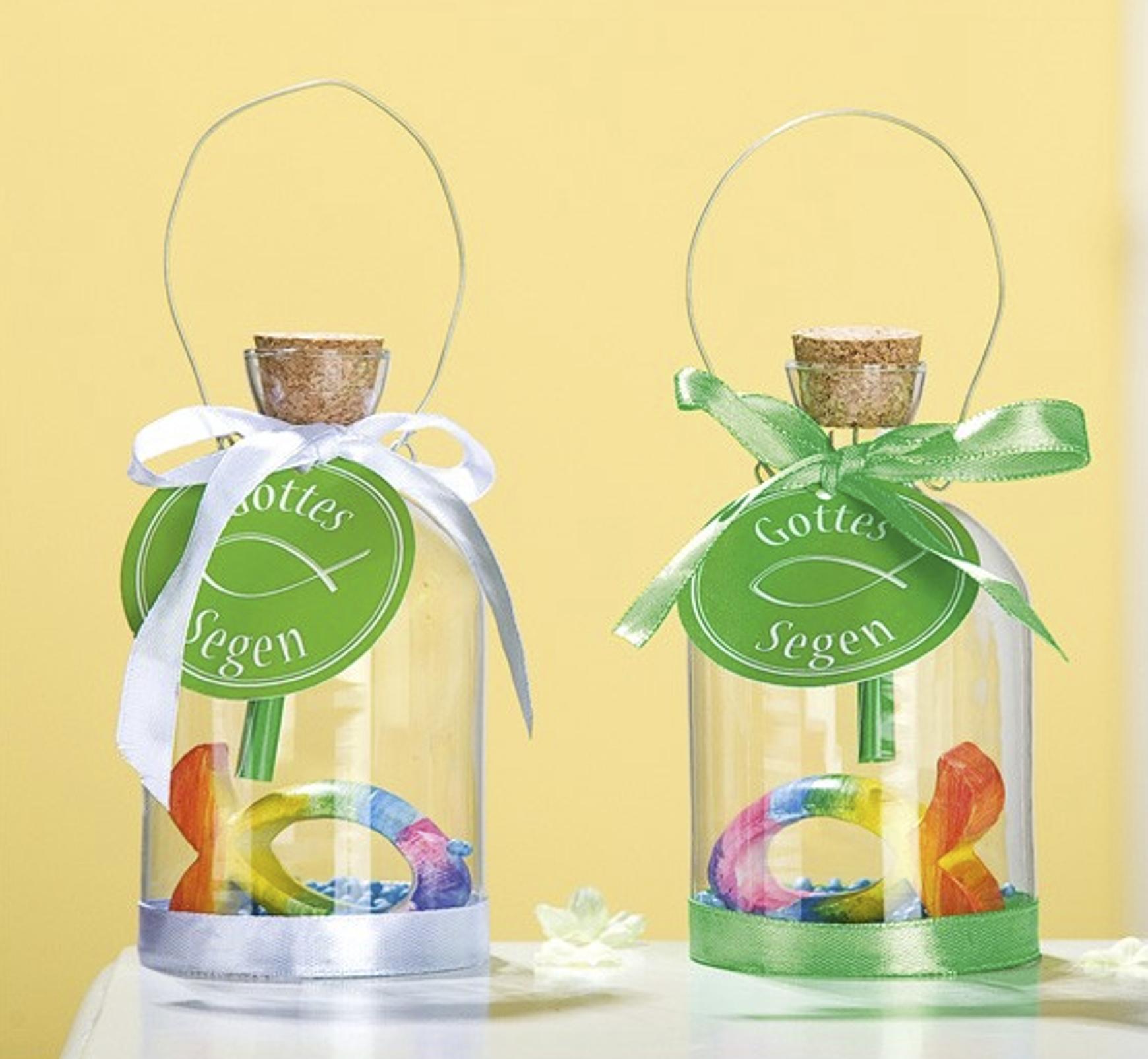 Flaschenpost Gottes Segen Geschenk Taufe Kommunion