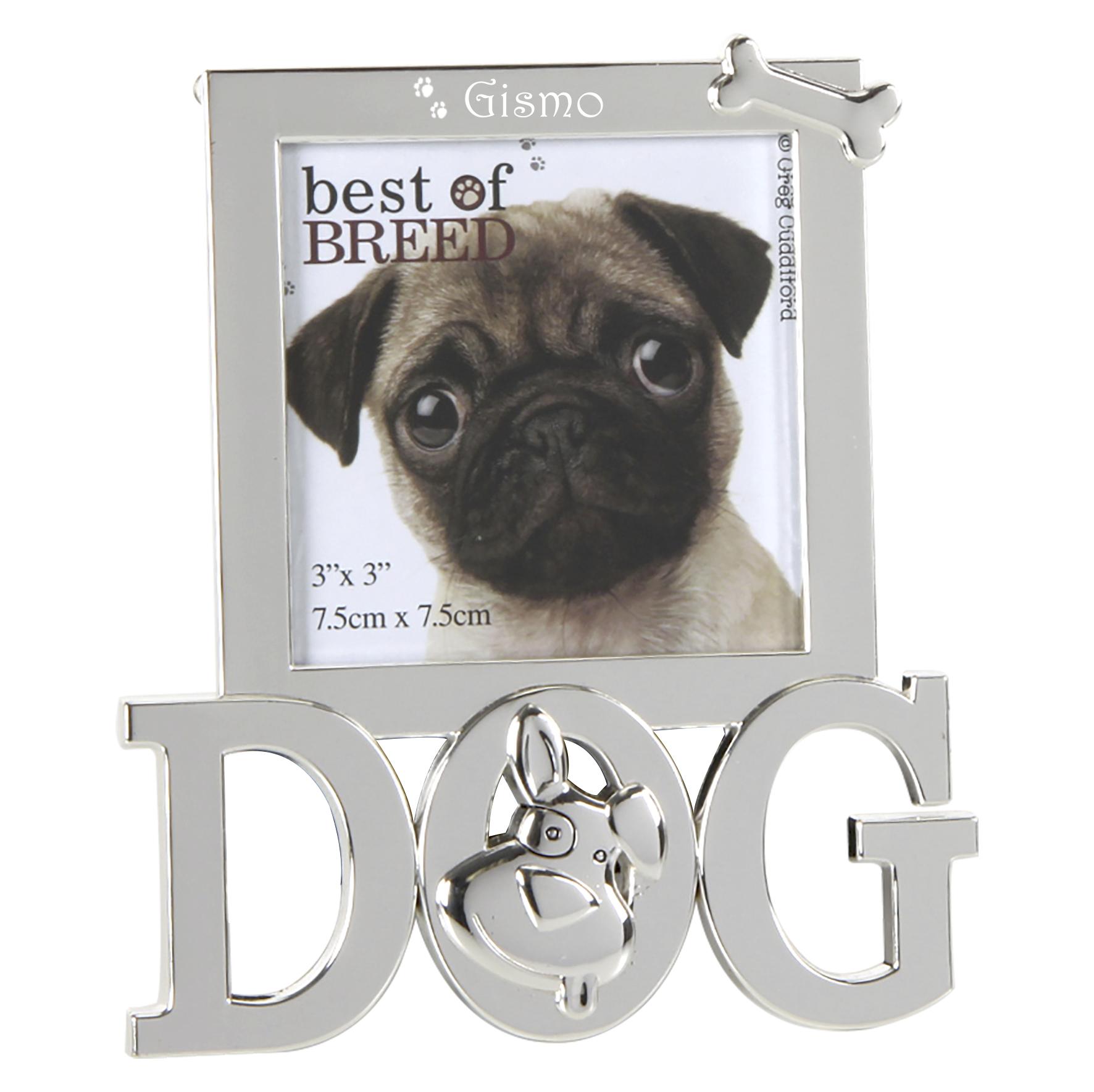 Bilderrahmen Dog mit Schriftzug, Knochen & Namensgravur
