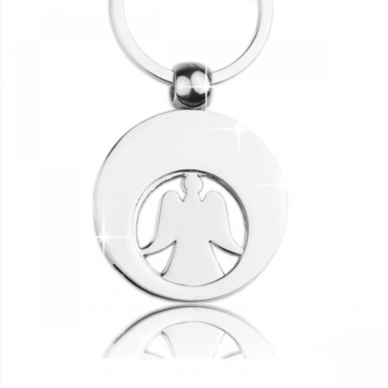 Schlüsselanhänger Einkaufschip Engel-mit Wunschgravur-Geschenk Box Design