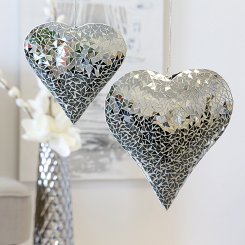 mosaik spiegel herz zum aufh ngen. Black Bedroom Furniture Sets. Home Design Ideas